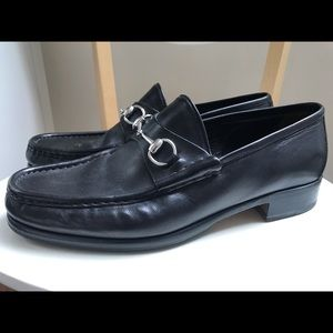 Men's classic Gucci horsebit loafers 11D